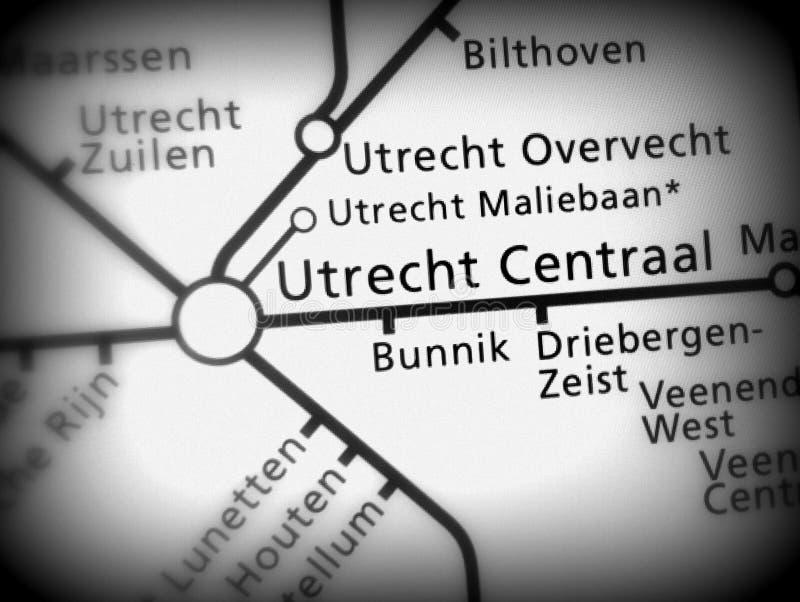 Gare ferroviaire Utrecht Centraal photographie stock