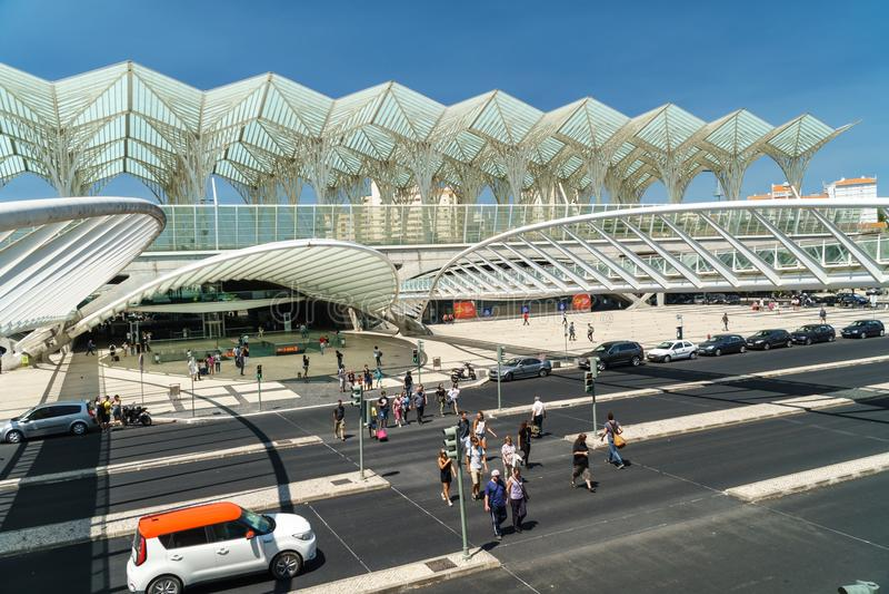 Gare font Oriente à Lisbonne images libres de droits