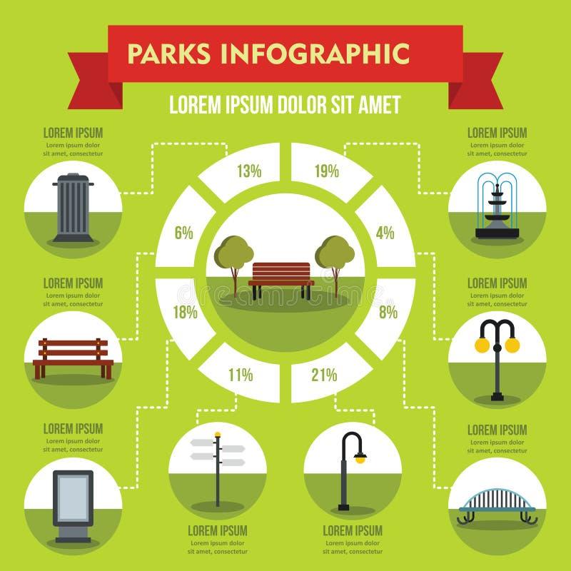 Gare le concept infographic, style plat illustration libre de droits