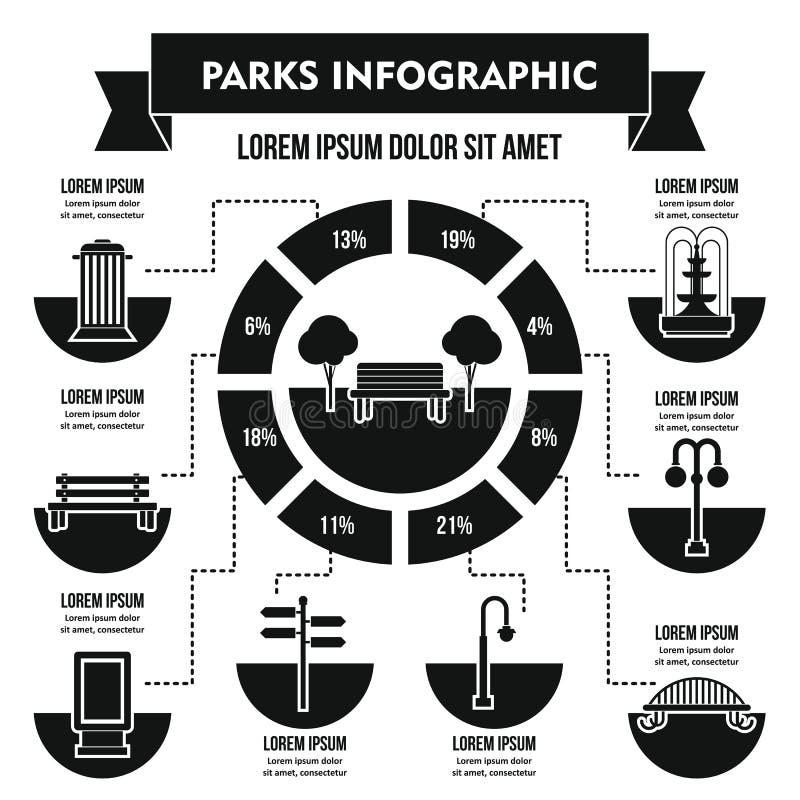 Gare le concept infographic, style simple illustration libre de droits