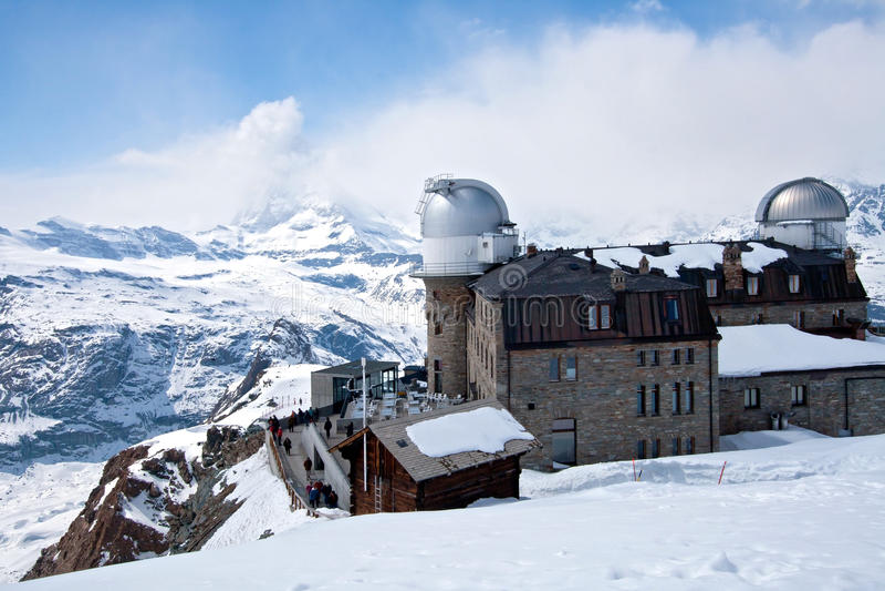 Gare Matterhorn Suisse d'observatoire photo stock