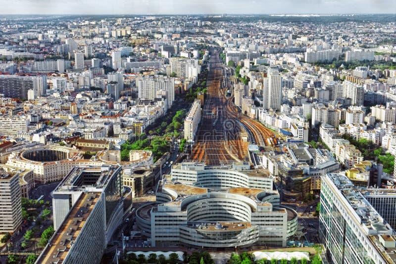 Gare Montparnasse widok od wierza Montparnasse.P (stacja kolejowa) zdjęcia stock