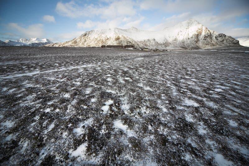 Gare polaire arctique - Spitsbergen, Svalbard photos stock
