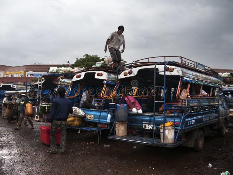 Gare routière à Vientiane laos photographie stock libre de droits