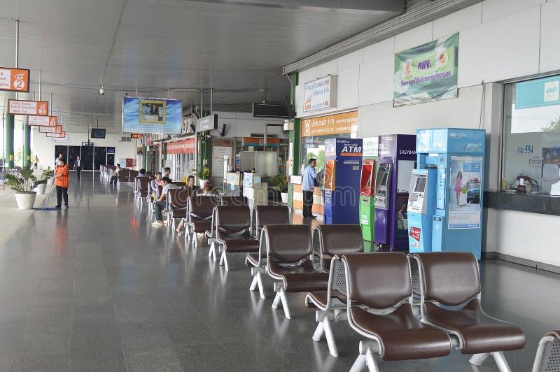 Gare routière dans l'aéroport de Suvarnabhumi photographie stock libre de droits