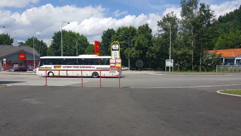 Gare routière de Vimperk, République Tchèque photo libre de droits