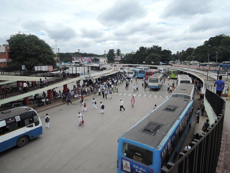 Gare routière majestueuse, Bangalore photo libre de droits