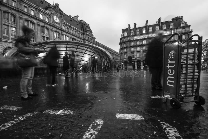 Gare Saint-Lazare Editorial Photography