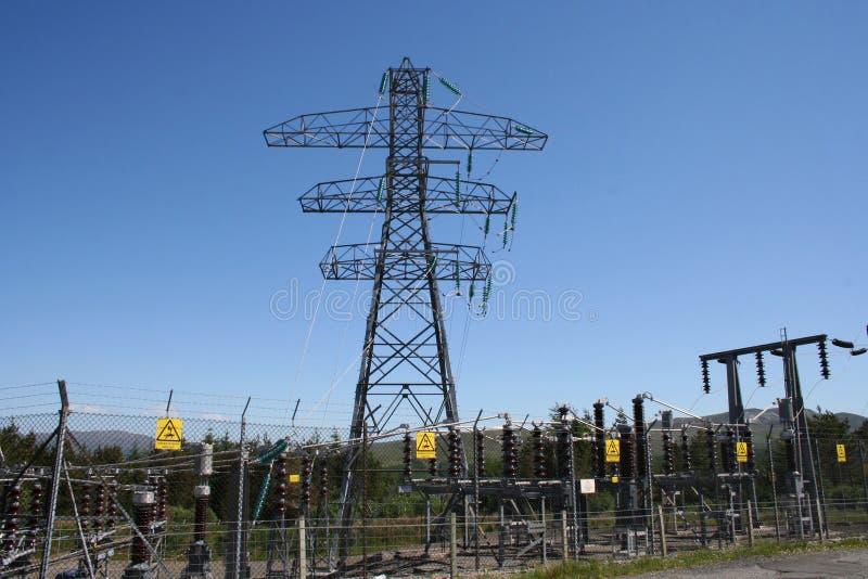 Gare secondaire de l'électricité images libres de droits