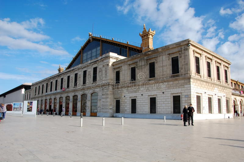 Gare St Charles em Marselha foto de stock royalty free