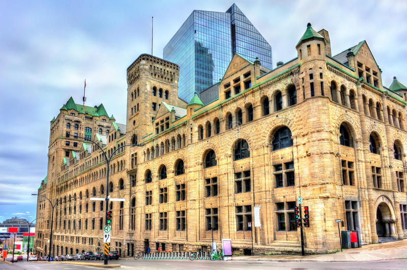 Gare Windsor, a heritage train station in Montreal, Canada stock photos