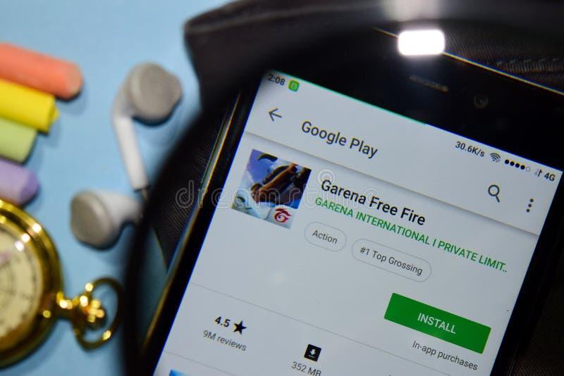Garena Free Fire Dev App On Smartphone Screen  Editorial