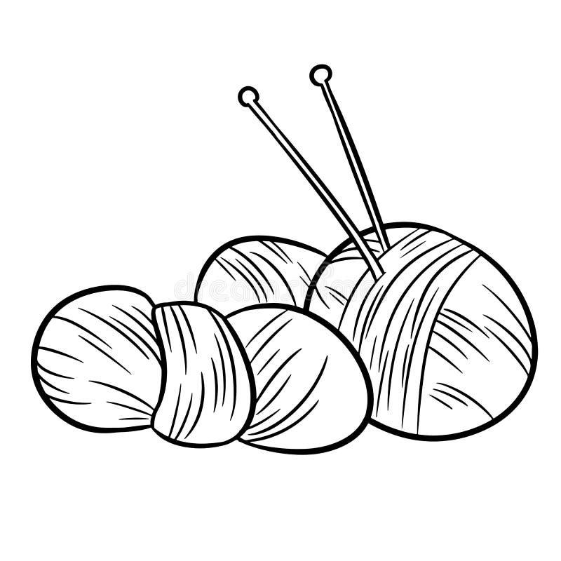 Garenkrabbels Voor druk, embleem, creatief ontwerp Vector illustratie vector illustratie