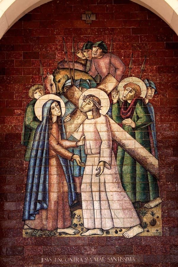 Gares de la croix image stock