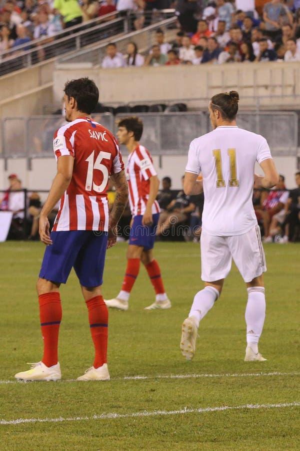 Gareth Bale du Real Madrid #11 dans l'action pendant le match contre Atletico De Madrid dans la tasse de 2019 champions internati photo stock