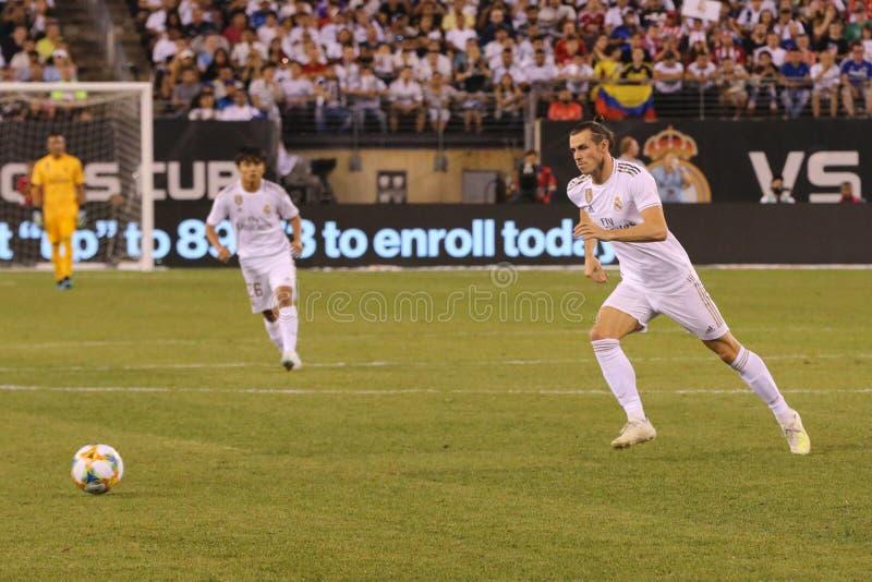 Gareth Bale du Real Madrid #11 dans l'action pendant le match contre Atletico De Madrid dans la tasse de 2019 champions internati photos stock
