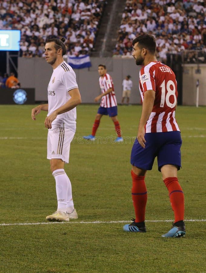 Gareth Bale du Real Madrid #11 dans l'action pendant le match contre Atletico De Madrid dans la tasse de 2019 champions internati images stock