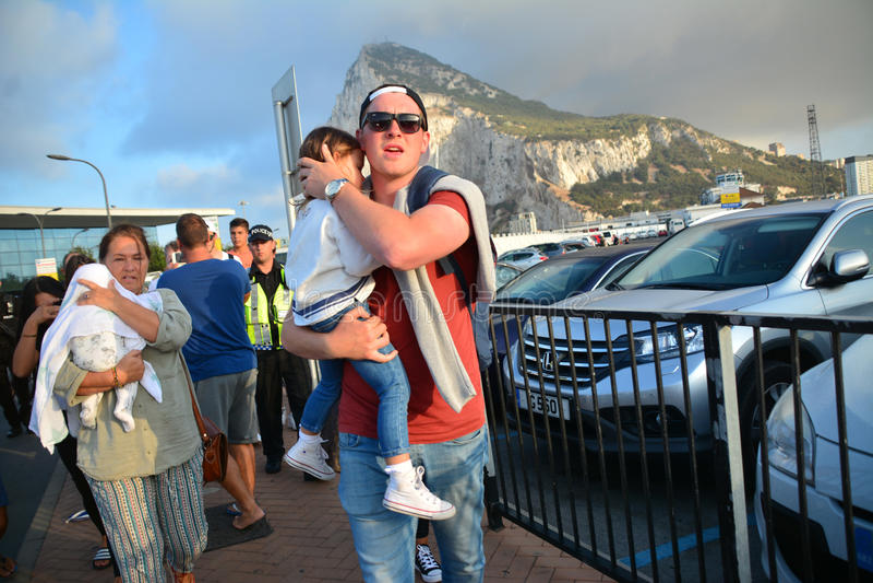 Gareth Bale in Gibilterra immagini stock libere da diritti