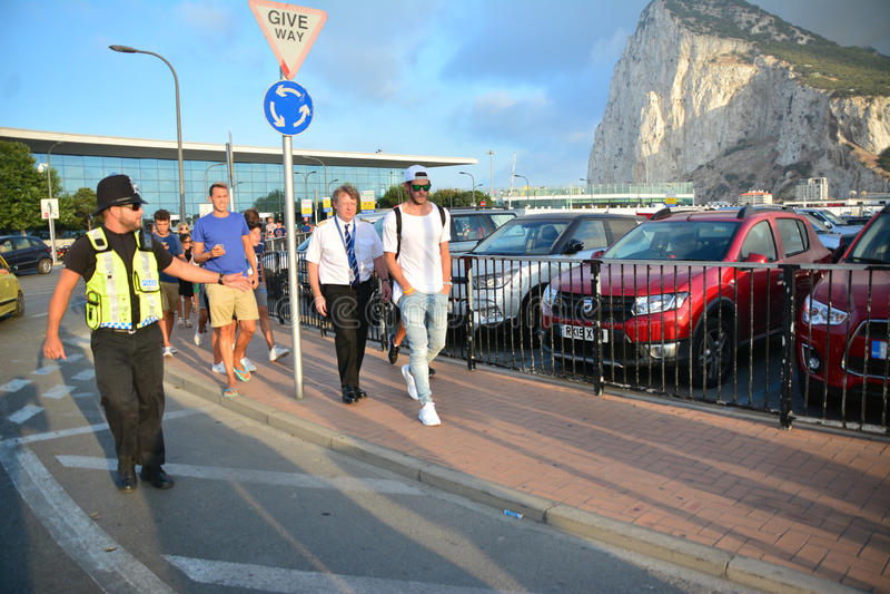 Gareth Bale in Gibilterra immagine stock