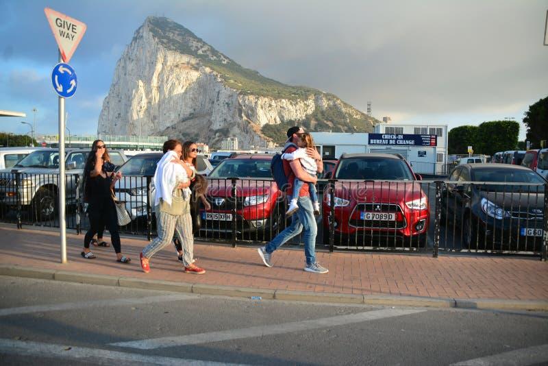 Gareth Bale in Gibilterra immagini stock