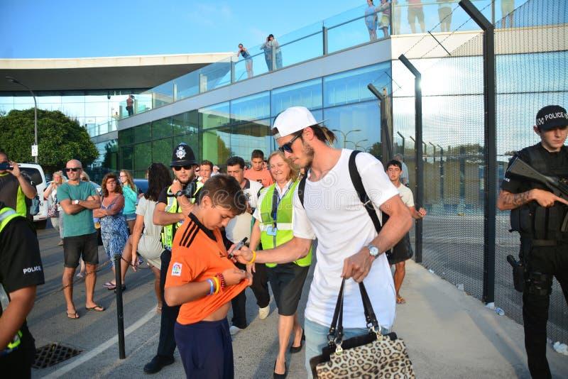 Gareth Bale in Gibraltar royalty-vrije stock foto's