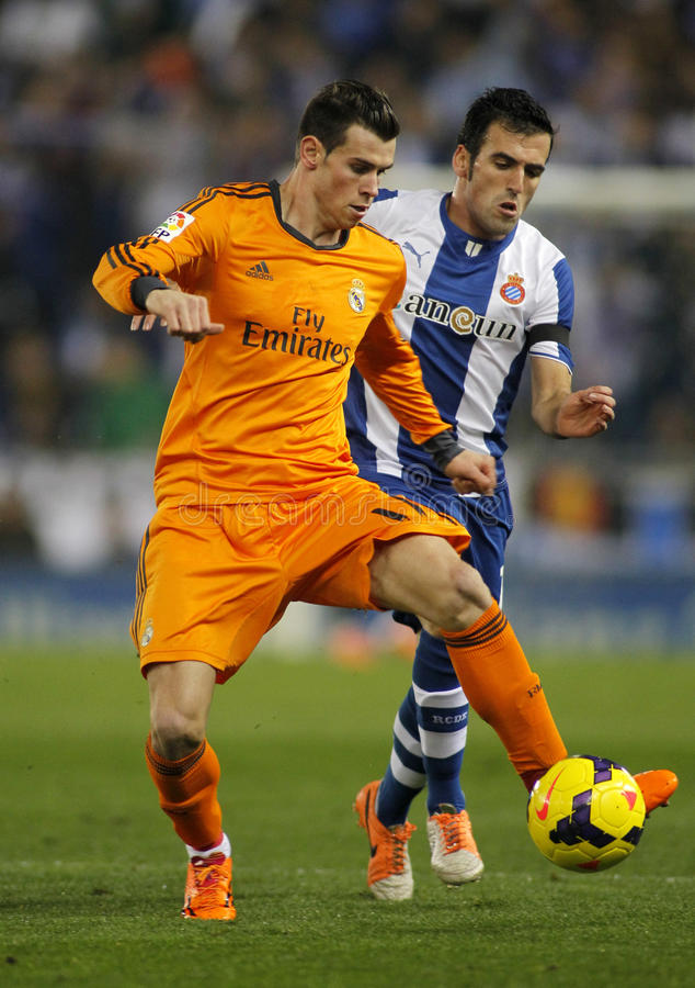 Gareth bela Real Madrid obrazy royalty free