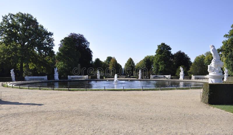 Garez la fontaine de Sanssouci à Potsdam, Allemagne images stock