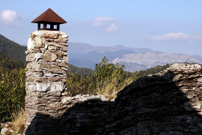 Garfagnana, Campocatino, Alpes d'Apuan, Lucques, Toscane l'Italie Hous photo stock