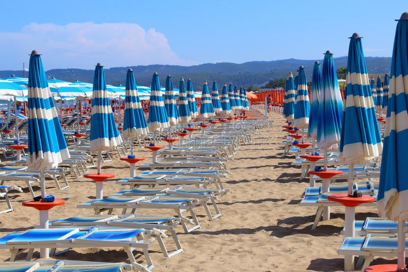 Gargano peninsula beach. Gargano peninsula in Italy - Pizzomunno Beach in Vieste stock photography