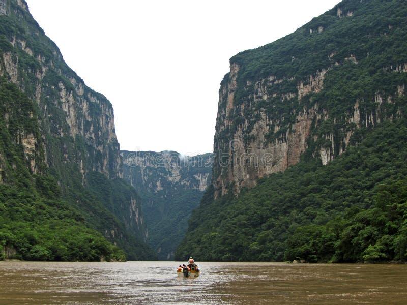 Garganta-Chiapas de Sumidero fotos de stock royalty free