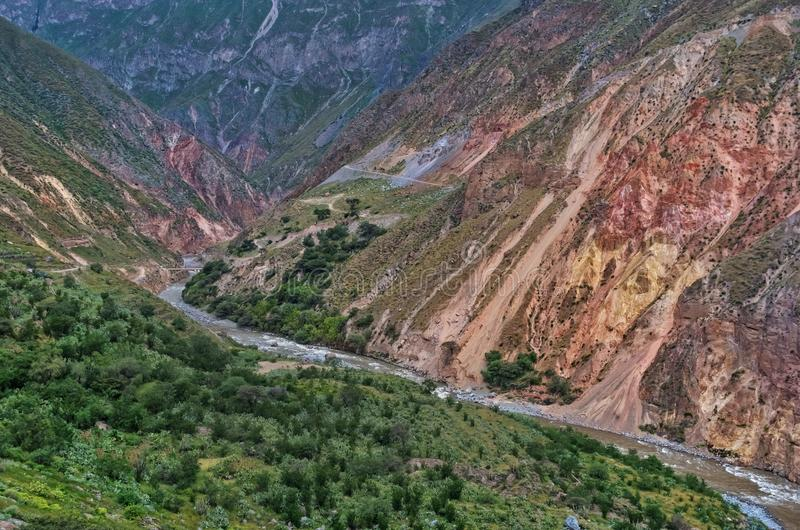 Garganta Colca, Peru imagens de stock royalty free
