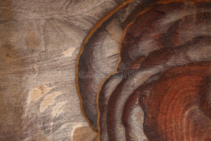 Garganta colorida abstracta Siq, Rose City, Petra de la piedra arenisca de los modelos, foto de archivo libre de regalías