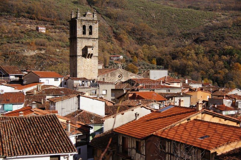 Garganta de Λα Olla torre de iglesia Υ tejados. Garganta de Λα Olla πύργος και στέγες εκκλησιών στοκ φωτογραφία με δικαίωμα ελεύθερης χρήσης