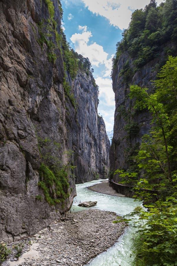 Garganta de Aare en Suiza imagen de archivo
