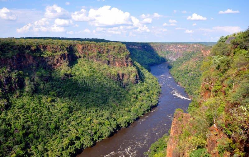 Garganta de Batoka, el río Zambezi, Zimbabwe imagen de archivo