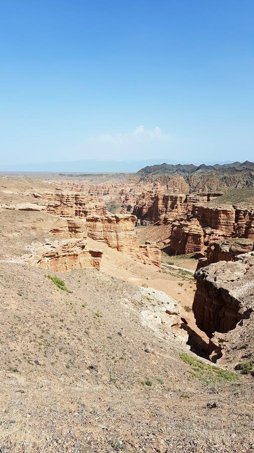 Garganta de Charyn em Kasachstan fotografia de stock