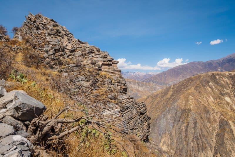 Garganta de Colca de Cabanaconde no Peru fotos de stock