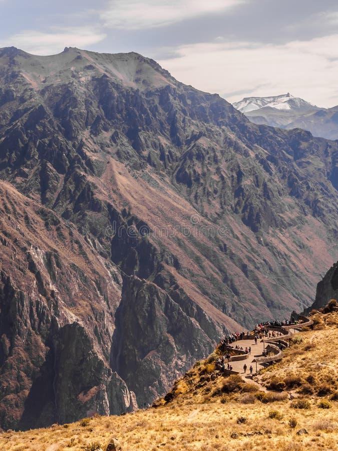 Garganta de Colca no Peru, ponto de vista panor?mica imagens de stock royalty free