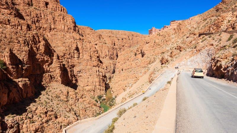 Garganta de Dades, Marruecos imagen de archivo