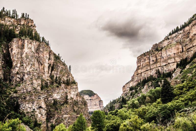 Garganta de Glenwood em Colorado fotografia de stock royalty free