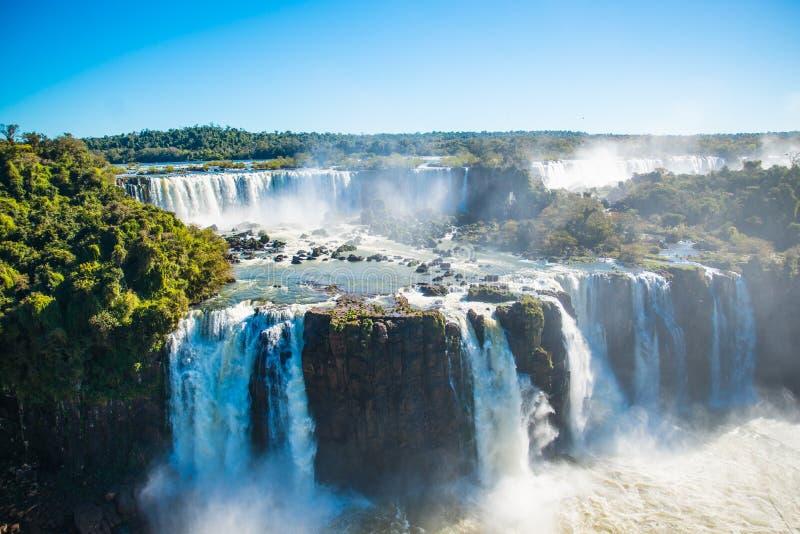 Garganta de las cataratas del Iguazú o de los diablos fotos de archivo libres de regalías