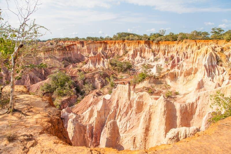 Garganta de Marafa - Kenya imagens de stock