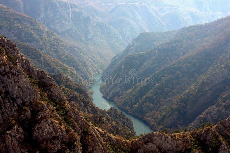 Garganta de Matka, Macedônia imagens de stock
