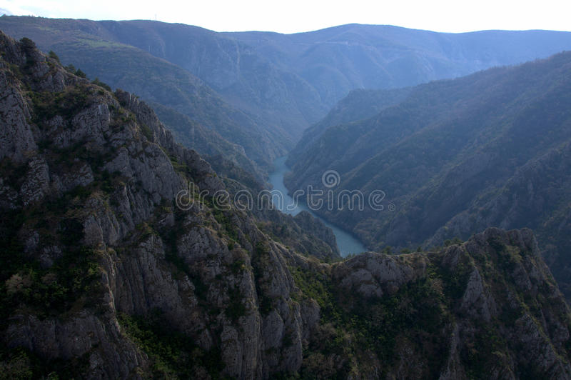 Garganta de Matka, Macedônia, Europa imagem de stock