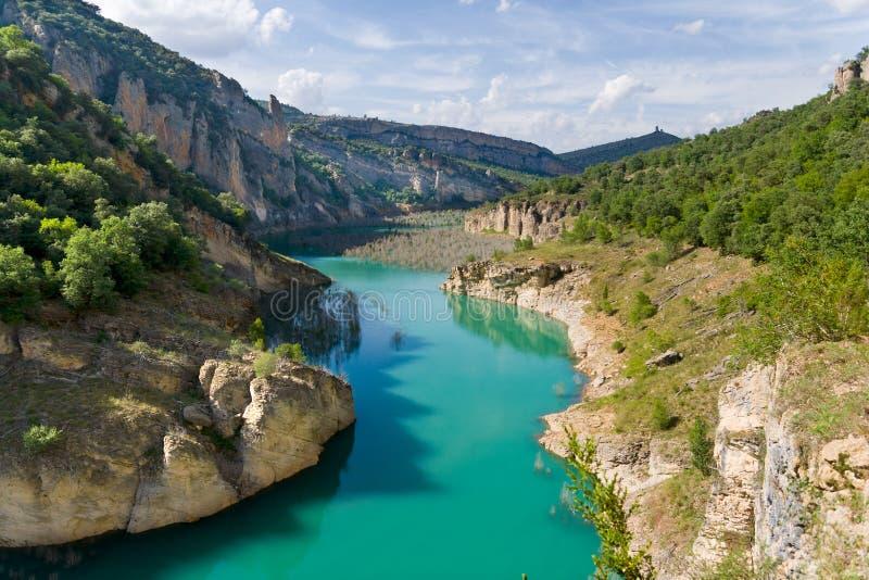 Garganta de Mont-rebei en Cataluña, España imágenes de archivo libres de regalías