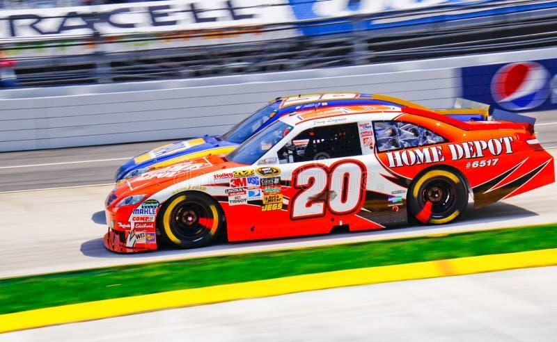 Garganta de NASCAR e garganta! fotos de stock royalty free