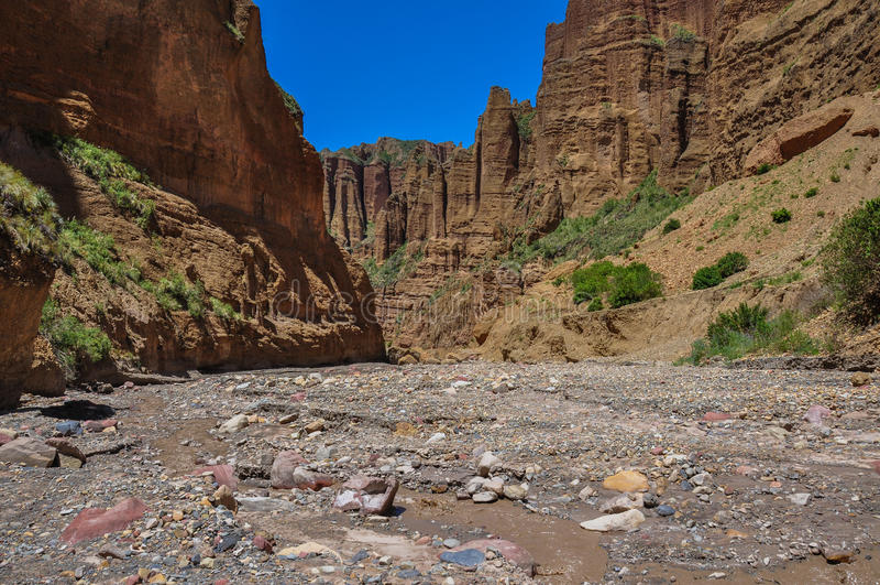 Garganta de Palca perto de La Paz, Bolívia imagens de stock