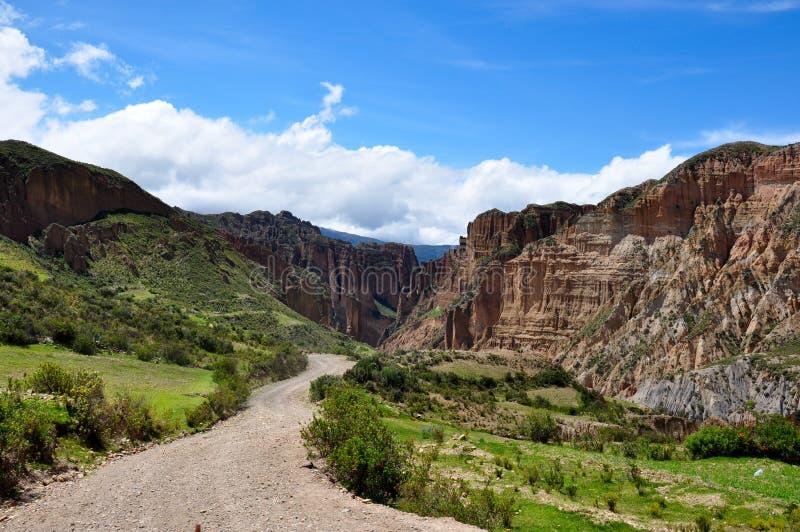 Garganta de Palca perto de La Paz, Bolívia foto de stock