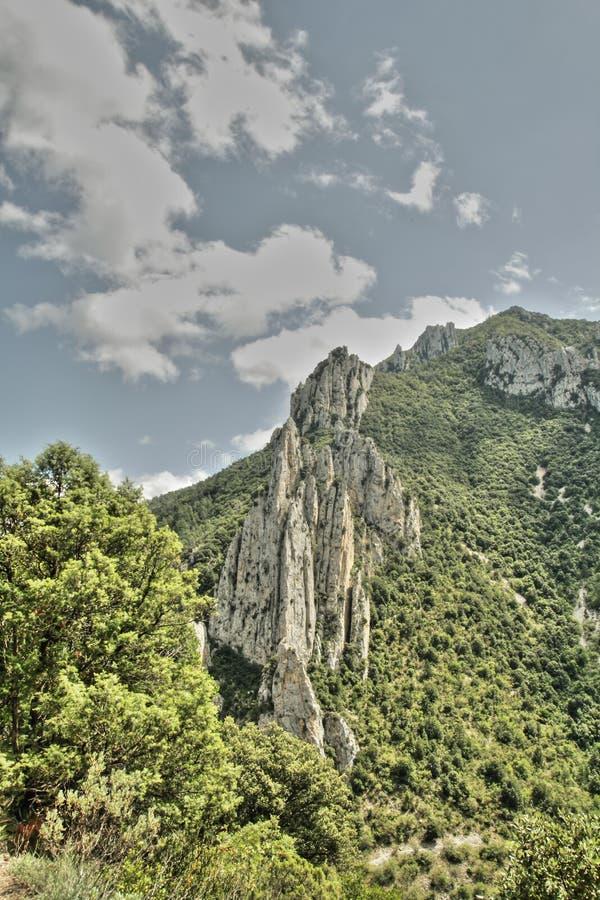 Garganta de Pierre Lys em Pyrenees, França imagem de stock royalty free