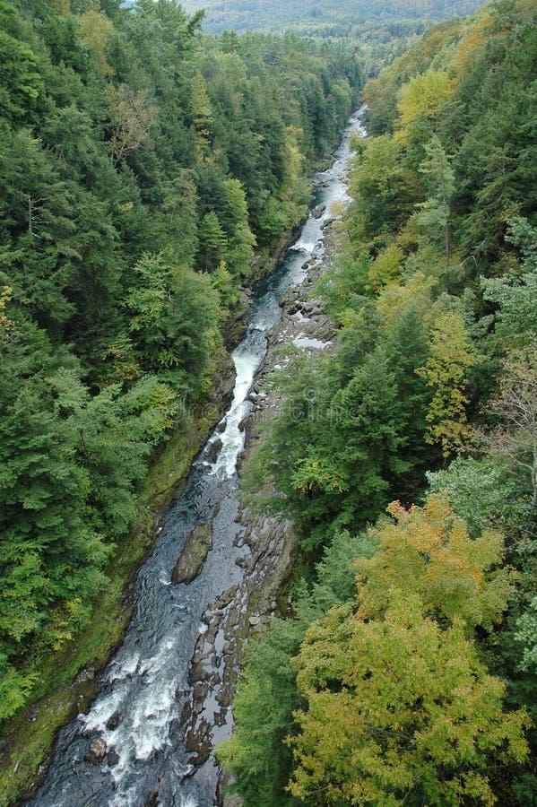 Garganta de Quechee em Vermont imagem de stock royalty free